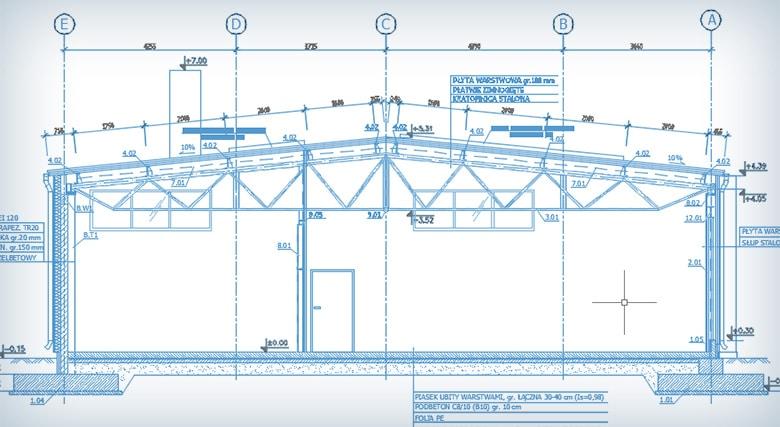 Rozbudowa hali w Golęczewie - projekt