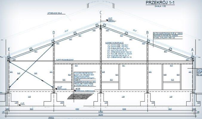 Projekt rozbudowy hali w Grzmiącej