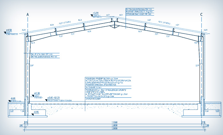 Projektowanie hali usługowej w Połczynie Zdroju