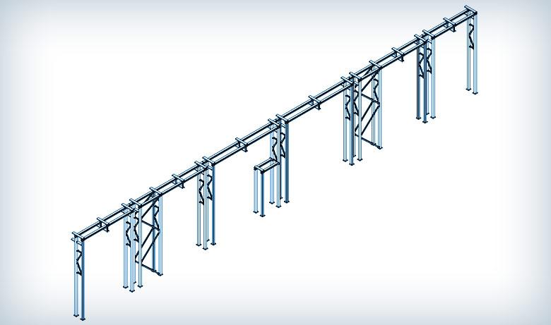 Projektowanie konstrukcji wsporczej pod rurociągi oleju termalnego w Żarach